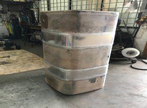 Repaired Aluminum Diesel Tank